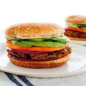 Veggie Burger served with chips or salad