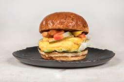 Egg & veggie burger