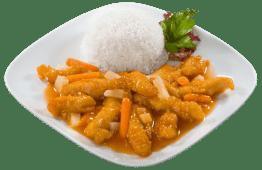 Podwójnie panierowany kurczak w sosie słodko-kwaśnym