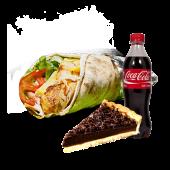Shaorma XXL + Tarta cu ciocolata + Coca - Cola (sticla)