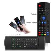 Teclado Air Mouse Inalambrico, Giroscopio, Tv Box, Smart Tv Pc Etc