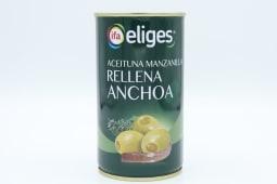 Aceituna Eliges Rellenas Anchoas 150 Gramos.