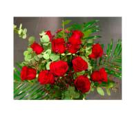 12 rosas rojas (foto orientativa)