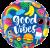 Globo Good Vibes (Tamaño 45 Cm.)