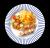 Frigărui de pui cu cartofi copți și salată din legume proaspete