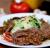 Салат с мясными ломтиками в соусе Демиглас