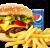 Meniu American Burger de vita sandwich