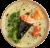 107. Temaki de salmón flameado,aguacate,pepino,salsa teriyaki y sésamo