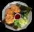 Шрімп Кейки. Котлети з креветками, яйцем, сухарями, кінзою (210г)