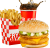 Meniu Cheesy Dublu Pui Burger