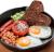 Яєчня з тостами з багатозернового хліба та Віденськими сосисками(350г)