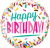 Globo Happy Birthday Sprinkles (Tamaño 45 Cm.)