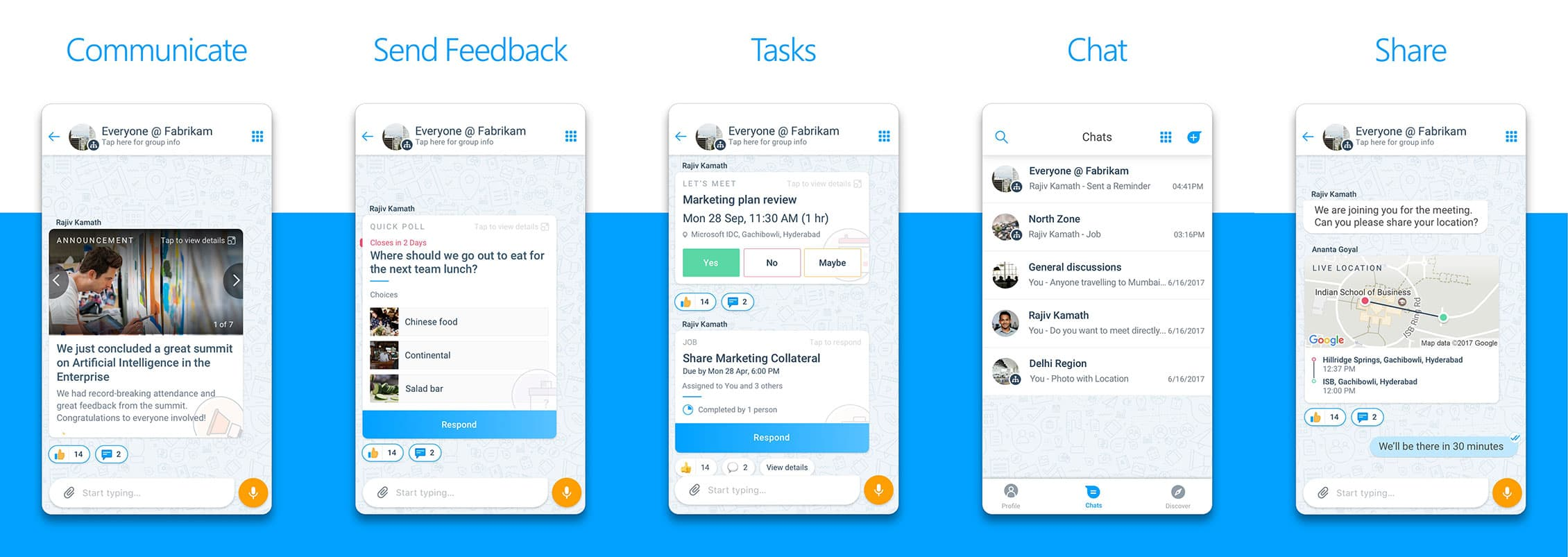 Microsoft Kaizala App Screenshots
