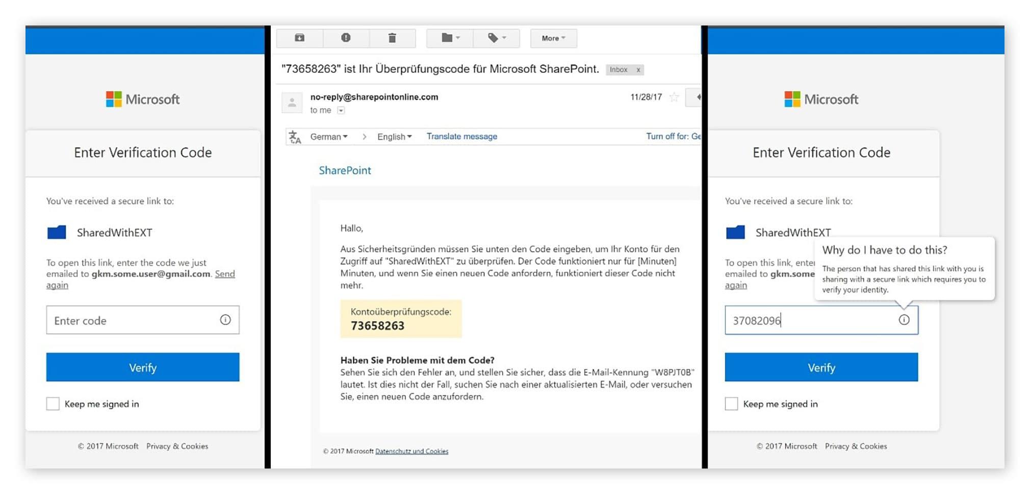 Login mit Email und PIN