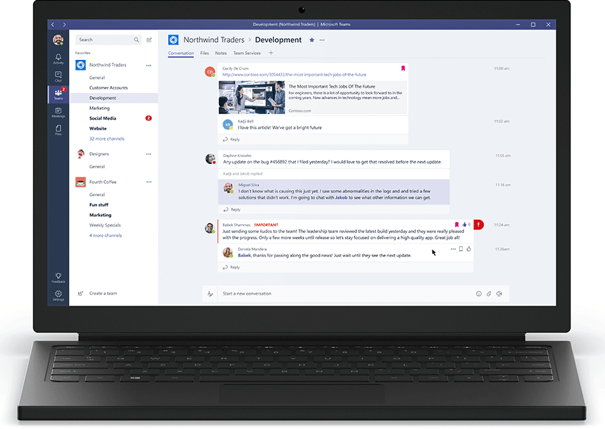 Microsoft Teams in action