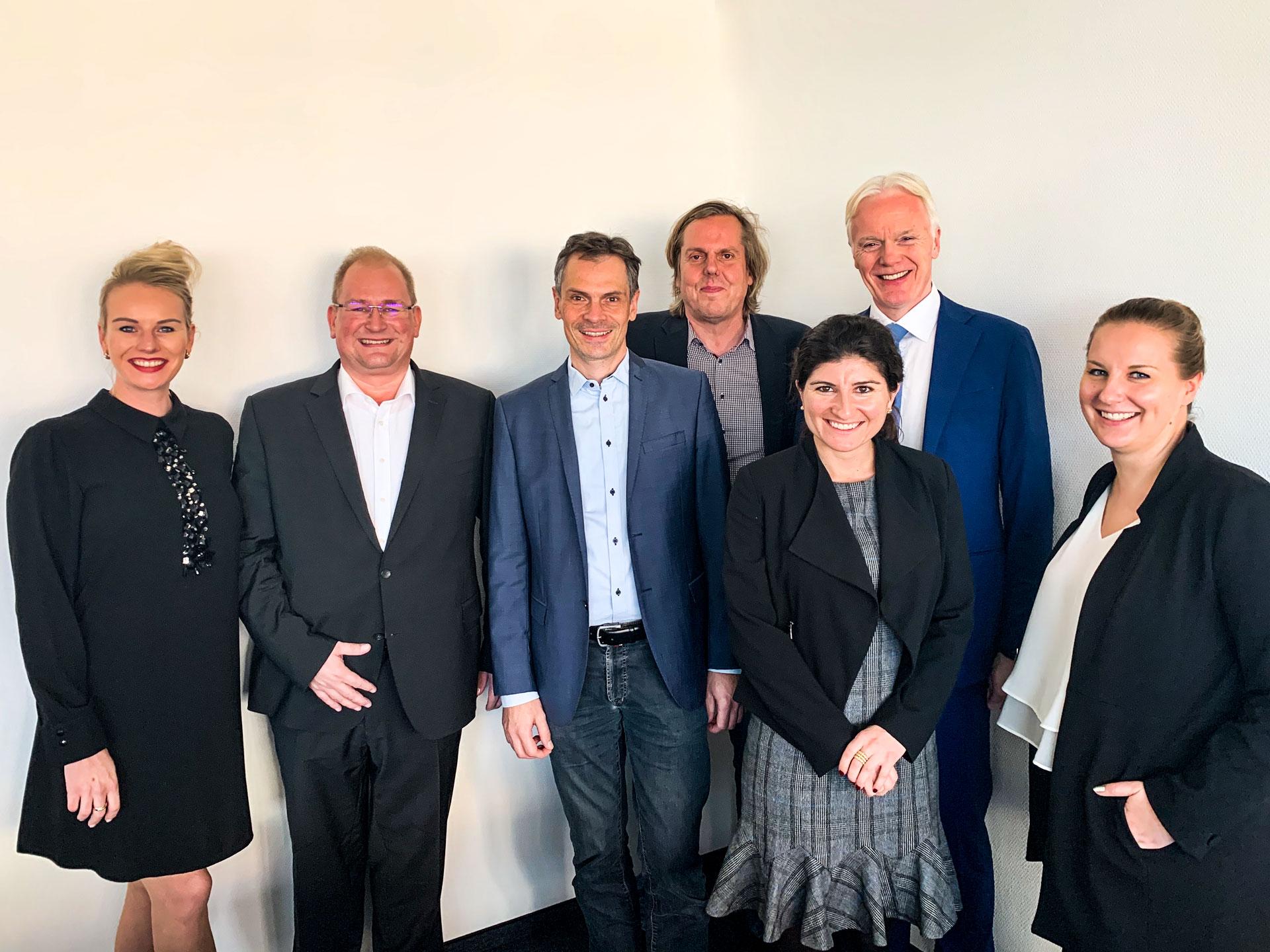 Glück & Kanja im Austausch mit dem President of Microsoft EMEA