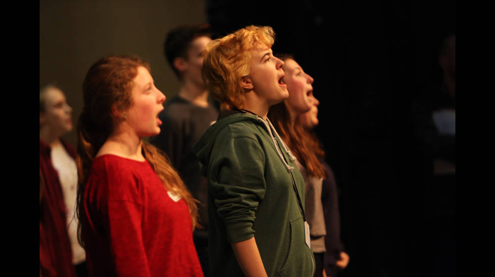 43 Glyndebourne Youth Opera members perform in Nothing.