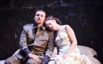 Poliuto, Glyndebourne Festival 2015. Severo (Igor Golovatenko) and Paolina (Ana María Martínez). Photographer: Tristam Kenton