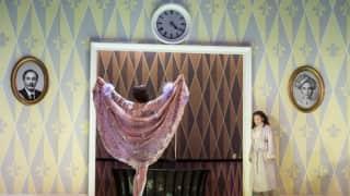 Der Rosenkavalier, Glyndebourne Festival 2014. Octavian (Tara Erraught) and the Marschallin (Kate Royal).