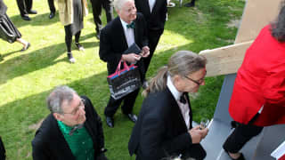 The opening of White Cube at Glyndebourne, our new gallery space.