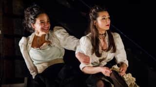 Carmen, Glyndebourne Festival 2015. Mercédès (Rihab Chaieb) and Frasquita (Eliana Pretorian).