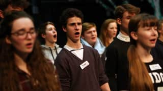 Thomas Gower and fellow Glyndebourne Youth Opera members.