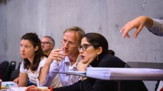 Staff director Rachael Hewer, revival director Paul Higgins and director Mariame Clément. Photographer James Bellorini
