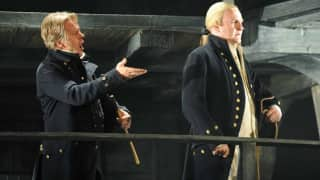 John Mark Ainsley as Captain Vere and Philip Ens as Claggart
