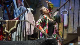 Glyndebourne Festival 2015, L'heure espagnole.  Concepción (Danielle de Niese). Photographer: Richard Hubert Smith