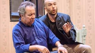 José Fardilha (Don Pasquale) and John Brancy (Dr Malatesta). Photographer James Bellorini