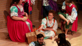 Glyndebourne Youth Opera Chorus with Nicholas Lester (Aeneas) and Kezia Bienek (Dido)