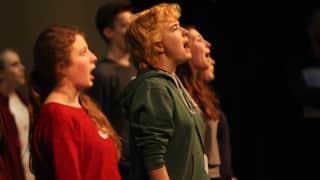 43 Glyndebourne Youth Opera members perform in Nothing.