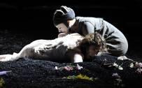 The Rape of Lucretia, Glyndebourne Festival 2015. Lucretia (Christine Rice) and Lucia (Louise Alder). Photographer: Robbie Jack