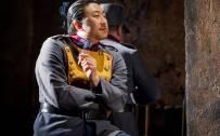 Carmen, Glyndebourne Festival 2015. Front pair, Moralès (Gavan Ring) and Zuniga (Simon Lim). Photographer: Robert Workman