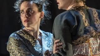 Glyndebourne Tour 2015, Die Entführung aus dem Serail. Blonde (Rebecca Nelsen) and Konstanze (Ana Maria Labin). Photographer: Clive Barda