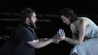 The Rape of Lucretia, Glyndebourne Festival 2015. Male Chorus (Allan Clayton) and Female Chorus (Kate Royal).