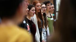 The chorus has been having weekly music rehearsals since October.