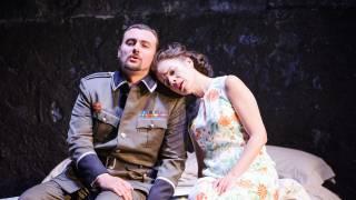 Poliuto, Glyndebourne Festival 2015. Severo (Igor Golovatenko) and Paolina (Ana María Martínez).