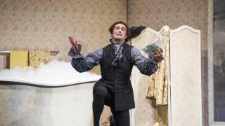 Don Pasquale, Glyndebourne Tour 2015. Dr Malatesta (John Brancy).  Photographer: Tristram Kenton