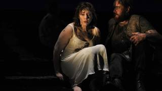 The Rape of Lucretia, Glyndebourne Festival 2015. Lucretia (Christine Rice) and Collatinus (Matthew Rose).