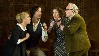 Susanna (Lydia Teuscher), Figaro (Vito Priante), Marcellina (Ann Murray and Bartolo (Andrew Shore), Le nozze di Figaro 2012.