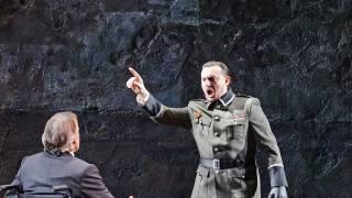 Poliuto, Glyndebourne Festival 2015. Felice (Timothy Robinson) and Severo (Igor Golovatenko).