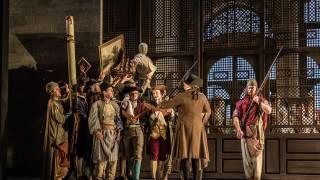 Glyndebourne Tour 2015, Die Entführung aus dem Serail. Glyndebourne Chorus. Photographer: Clive Barda