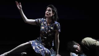 The Rape of Lucretia, Glyndebourne Festival 2015. Female Chorus (Kate Royal) and Male Chorus (Allan Clayton).