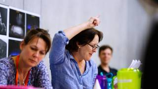 Assistant Director Fiona Dunn and Director Fiona Shaw