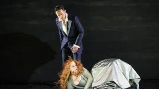 Saul, Glyndebourne Festival 2015. David (Iestyn Davies) and Michal (Sophie Bevan). Photographer Bill Cooper.