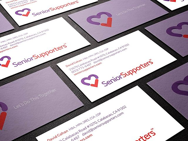 Senior supporters business card mock uppsd