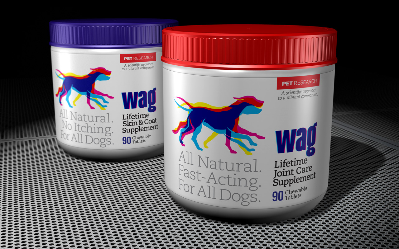All-Natural pet joint care supplement branding and packaging