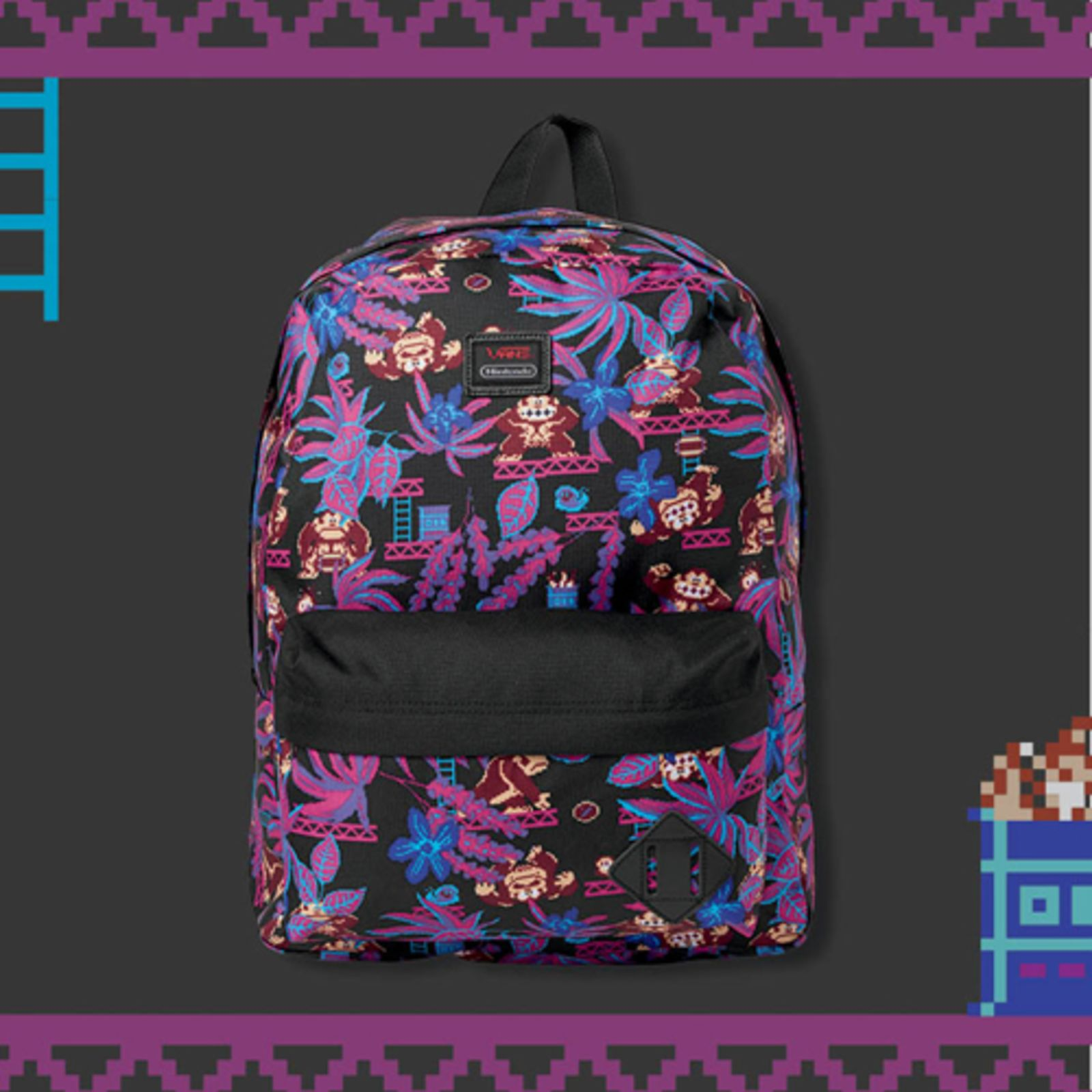 79903a2128 FA16 MBP241 MOldSKool2Backpack DonkeyKong ELEVATED Nintendo Vans Collection  Coming to Australia and NZ