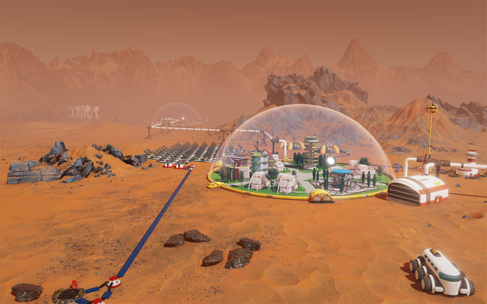 new sci fi city building game surviving mars announced